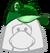Gorra de Mapache Verde icono