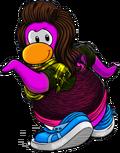 Pingüino del equipo rosa