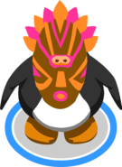 Pink Tiki Mask in game
