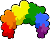 Puffle Care icons Head Rainbowfro