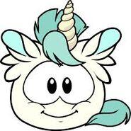Puffle Unicornio Blanco de frente