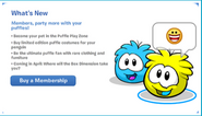 What's New Screen Puffle Party 2012