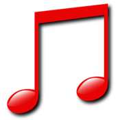 File:Red music note.png