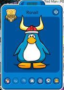 Tarjeta de Jugador de Rsnail (durante el 9no Aniversario de Club Penguin)