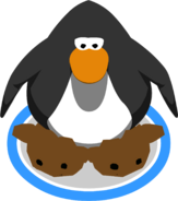 Brown Puffle Slippers in-game