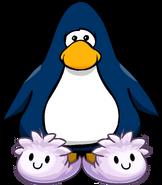 Pantuflas de Puffle Blanco tarjeta