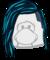 Peinado Rockero Azul icono