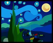 Starry Night Painting sprite 002