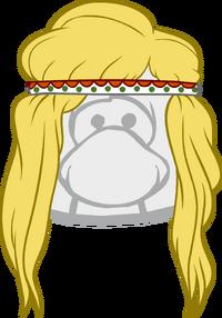 Peinado Hippie Rubio icono