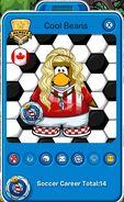 Tarjeta de Jugador de Cool Beans (durante la Copa Club Penguin)
