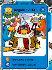 Club Penguin Regice 12014 Playercard New