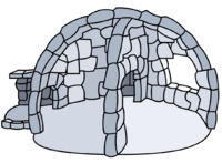 In Half Igloo igloo icon ID 37
