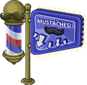 Mustache Madness Forest sign