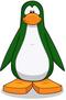 Pinguino verde oscuro