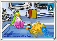 Pool postcard