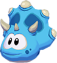 Blue triceratops 3d icon