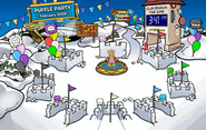 10th Anniversary Party Snow Forts
