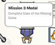 Mission 3 medal stamp book
