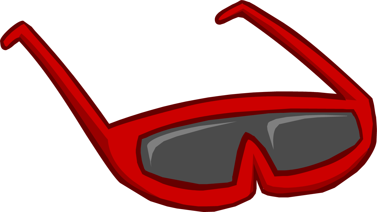 Image result for club penguin red sunglasses png