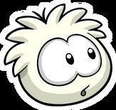 White Puffle Pin icon