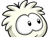 White Puffle Pin