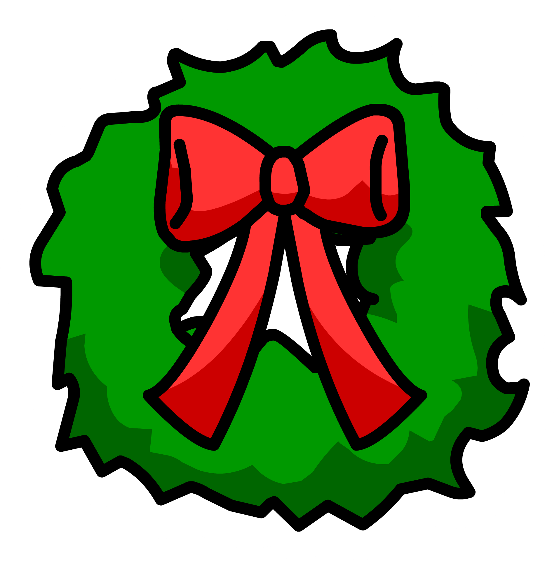 Image result for club penguin wreath pin