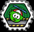 Club Penguin Estampilla - Puffle piloto