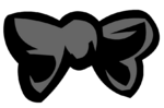 Black Bowtie clothing icon ID 214
