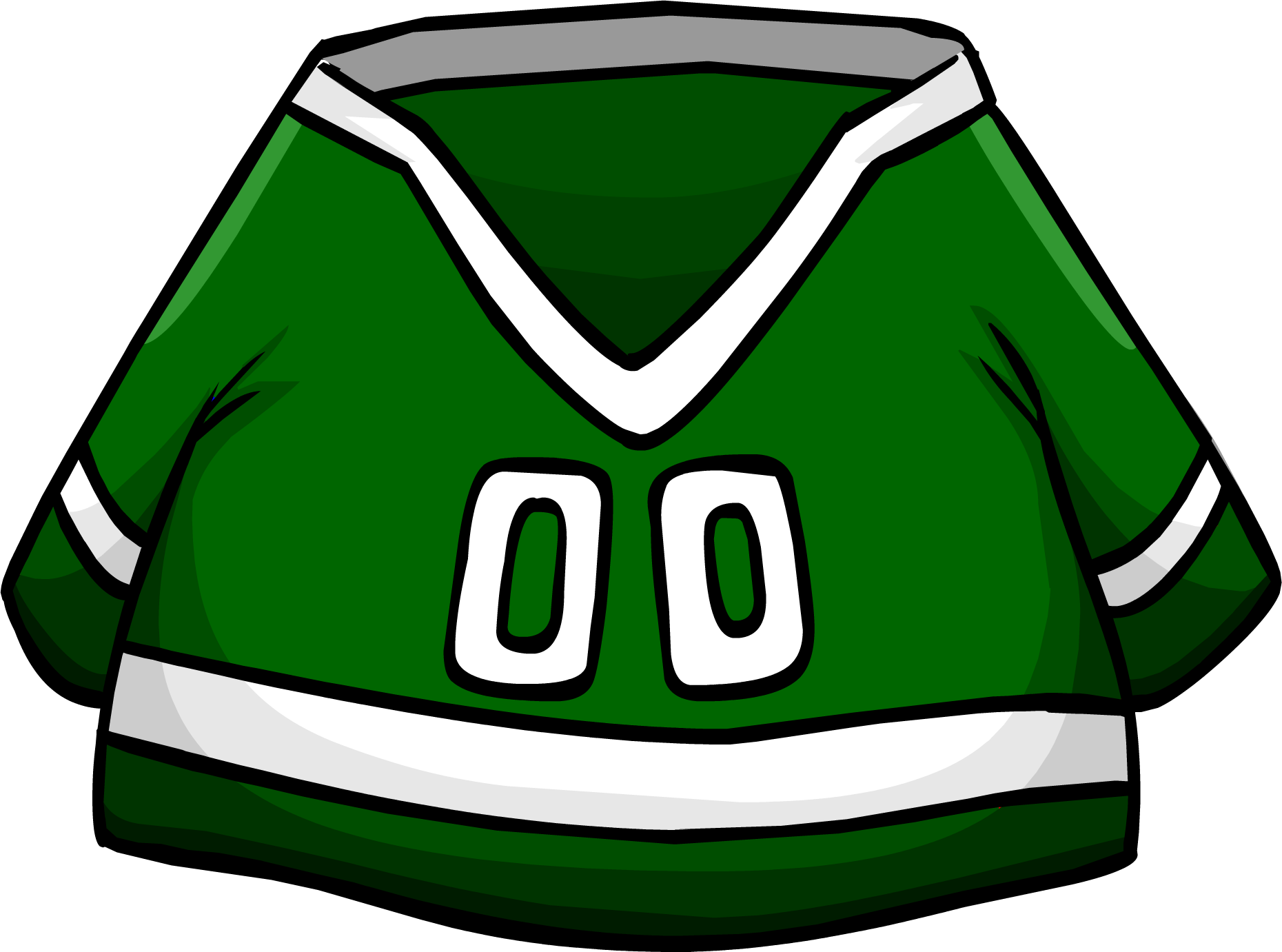 Image result for club penguin green hockey jersey