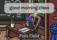 Polo Field: Buenos días, clase
