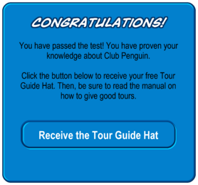 Tour Guide Test passed