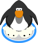 White Puffle Slippers in-game