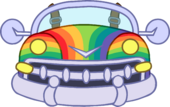 Rainbow Car icon