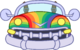 Rainbow Car icon