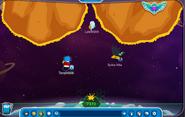 Yo,Luis y Spike destruyendo asteroides
