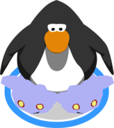 Ghost Puffle Slippers in-game