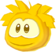 Gold puffle 3d icon