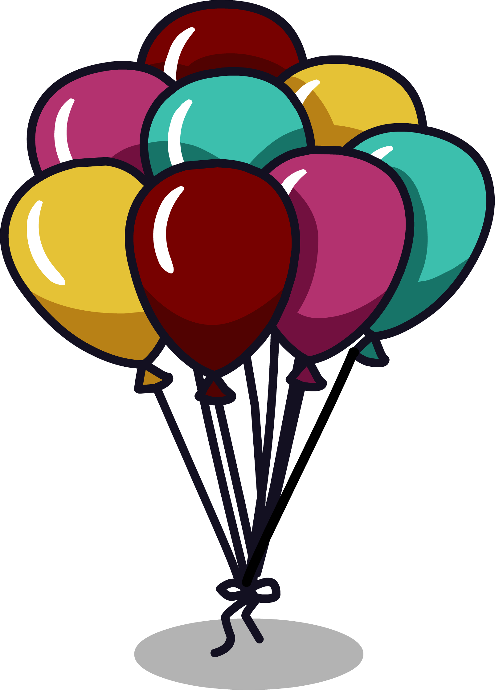 Attirant Balloon Bunch. 749 Furniture Icon