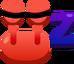 Emoji Crab Sleep