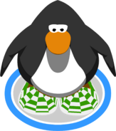 Green Checkered Shoes In-Game