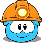 Puffle Dig Helmet in Puffle Interface