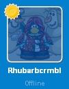 Rhubarbcrmbl desconectada en la Lista de Amigos