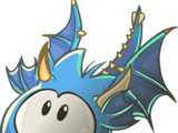 Puffle Dragón Azul