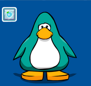 Club Penguin - Pin de puffito celeste