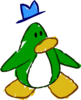Doodle Dimension penguin Green hat