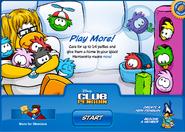 Puffle Party 2009 login screen