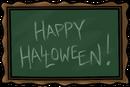 School chalkboard hallo thu