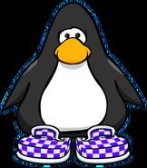 Zapatos a Cuadros Violetas carta