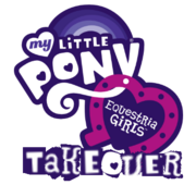 Club penguin My little pony equestria girls takeover logo
