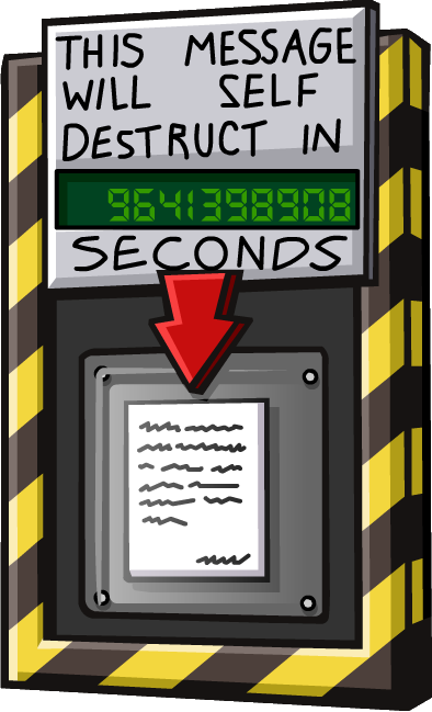 Self destructing